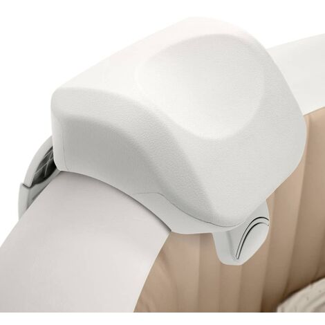 "main image of ""Intex Premium PureSpa Reposacabezas bañera espuma blanco 28x23x17 cm"""