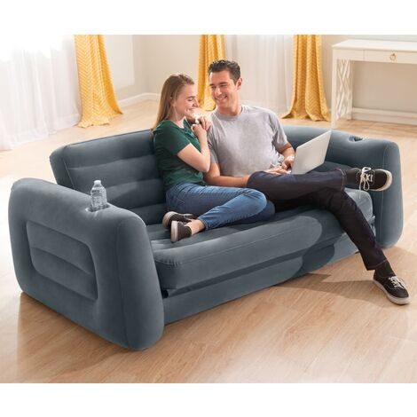 "main image of ""Intex Pull-Out Chair 203x231x66 cm Dark Grey - Grey"""