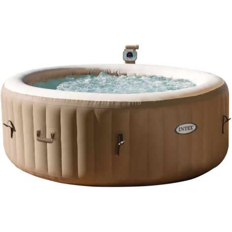 """Intex Pure SPA 77"""" Bubble, Schwimmbad, braun/weiß, Jet Massage mit Kalkschutzsystem"""