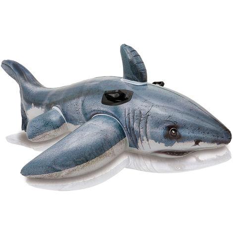 Intex Requin blanc à chevaucher gonflable x enfants de 3 ans et plus 57525NP