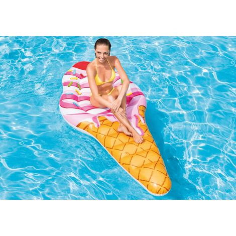 Intex Schwimmliege Eis Pool Liege Lounge Wasserliege Badespaß 58762