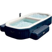INTEX - Spa con piscina hinchable fibertech 3,86x2,57x71 cm (28492)