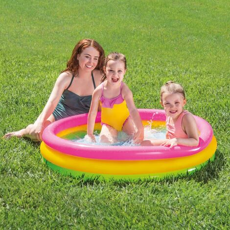 Intex Sunset Inflatable Pool 3 Rings 114x25 cm - Multicolour