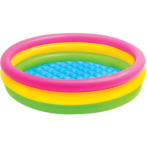 Intex Sunset Inflatable Pool 3 Rings 147x33 cm - Multicolour
