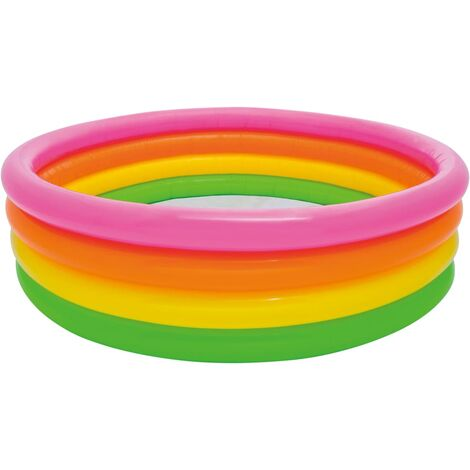 Intex Sunset Inflatable Pool 4 Rings 168x46 cm - Multicolour