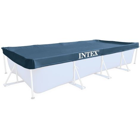INTEX Swimming Pool Abdeckplane für Frame Pool 450x220 28039