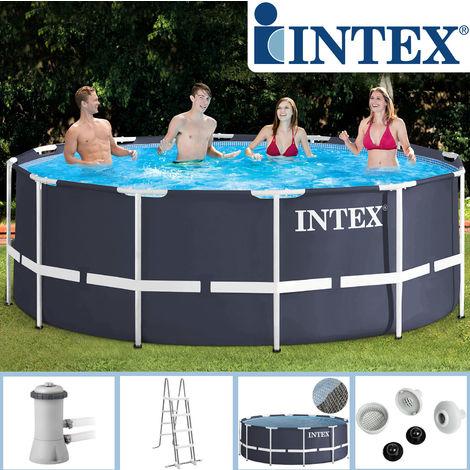 Hervorragend Intex Swimming Pool Frame 366x122 cm mit Leiter, Filterpumpe II82