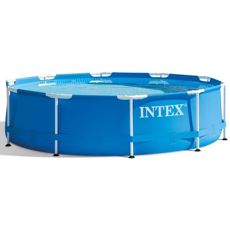 "main image of ""Intex Swimming Pool Metal Frame 305x76 cm 28200NP - Blue"""