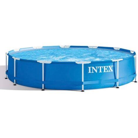 "main image of ""Intex Swimming Pool Metal Frame 366x76 cm 28210NP - Blue"""