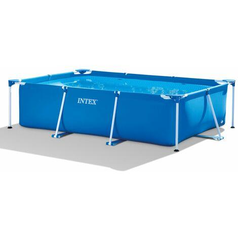 "main image of ""Intex Swimming Pool Rectangular Frame 300x200x75 cm 28272NP - Blue"""
