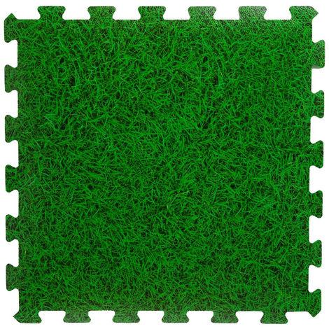 Intex - Tapis de sol vert en mousse modulable set de 8 Dalles