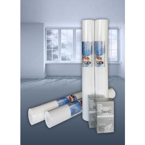 Intissé de rénovation revêtement non-tissé de lissage 150 g Profhome NormVlies 299-150 intissé à peindre professionnel | 4 rouleaux 75 m2