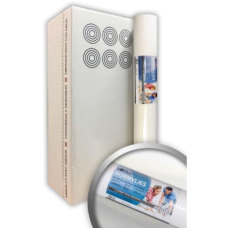 Intissé de rénovation revêtement non-tissé de lissage 150 g Profhome NormVlies 299-150 intissé à peindre professionnel 6 rouleaux 112,5 m2