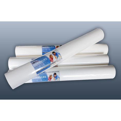 Intissé de rénovation revêtement non-tissé de lissage 150 g Profhome NormVlies 299-150 intissé à peindre professionnel | 6 rouleaux 112,5 m2