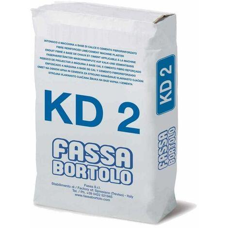 Intonaco di fondo fibrorinforzato per interni ed esterni 25Kg KD2 Fassa