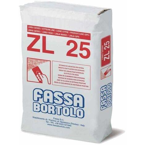 Intonaco di lisciatura per interni 25Kg ZL25 Fassa