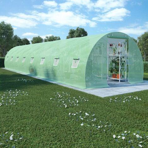 Invernadero 36m² 1200x300x200 cm - Verde