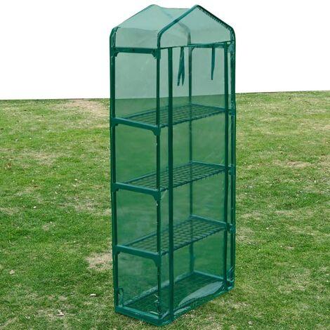 Invernadero con 4 estantes - Verde