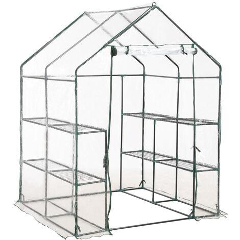 Invernadero con 8 estantes 143x143x195 cm