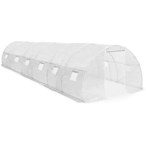 Invernadero con cimientos de acero 27 m² 900x300x200 cm