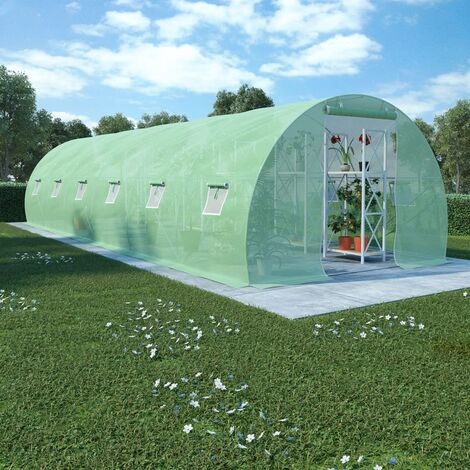 Invernadero con cimientos de acero 27m² 900x300x200 cm