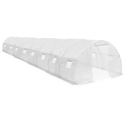Invernadero con cimientos de acero 36 m² 1200x300x200 cm