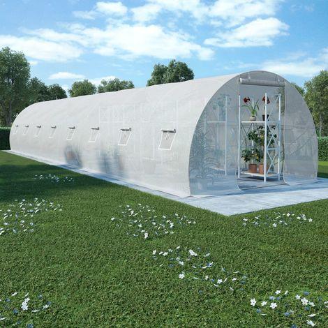 Invernadero con cimientos de acero 36 m2 1200x300x200 cm