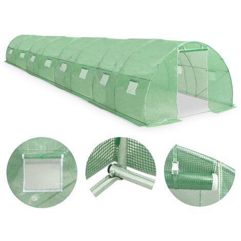 Invernadero con cimientos de acero 36m² 1200x300x200 cm
