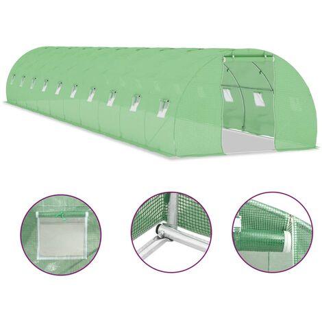 Invernadero con cimientos de acero 45 m² 15x3x2 m