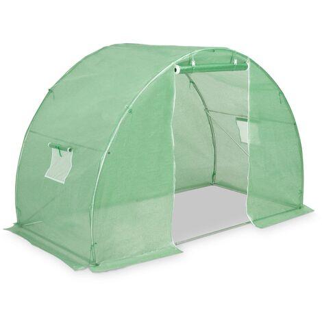 Invernadero con cimientos de acero 4,5m² 300x150x200 cm