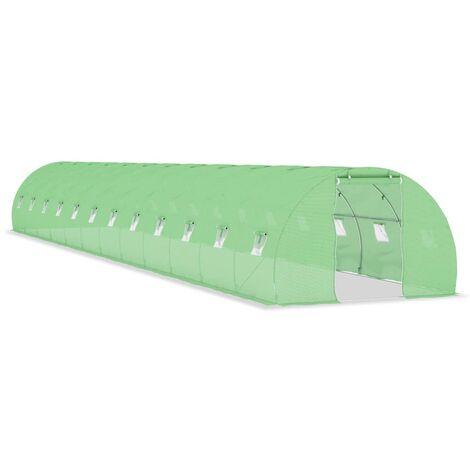 Invernadero con cimientos de acero 54 m² 18x3x2 m
