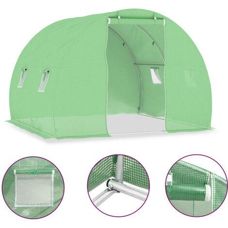 Invernadero con cimientos de acero 6 m² 3x2x2 m