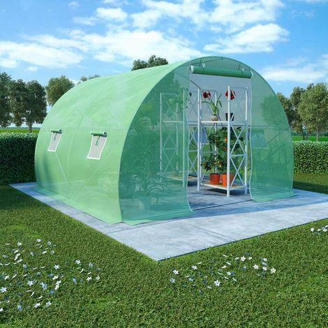 Invernadero con cimientos de acero 6 m2 3x2x2 m