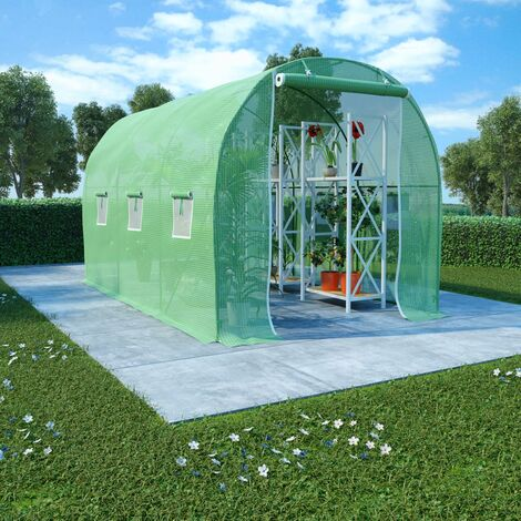 Invernadero con cimientos de acero 6,86 m² 3,43x2x2 m