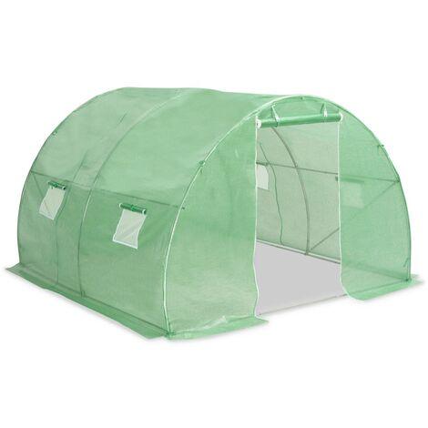 Invernadero con cimientos de acero 9 m² 300x300x200 cm