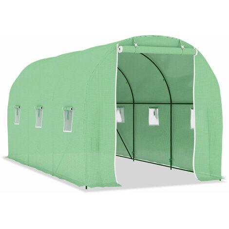 Invernadero con cimientos de acero 9 m² 4,5x2x2 m