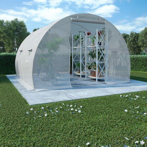 Invernadero con cimientos de acero 9 m2 300x300x200 cm