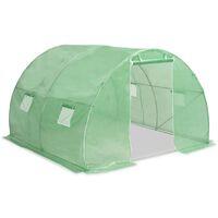 Invernadero con cimientos de acero 9m² 300x300x200 cm