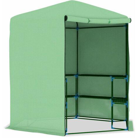 Invernadero con estantes acero 227x223 cm
