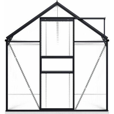 Invernadero con estructura de aluminio gris antracita 5,89 m²