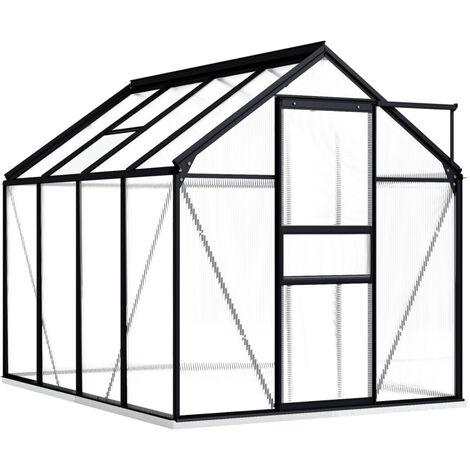 Invernadero con marco aluminio gris antracita 4,75 m2