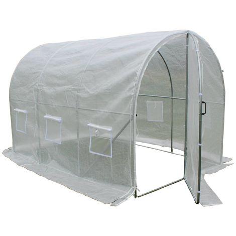 Invernadero con puerta batiente Mimosa - 6m² - 3 x 2 x 2 m