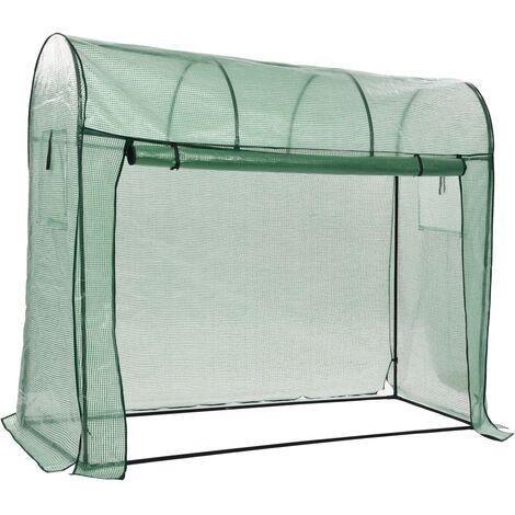 Invernadero con puerta con cremallera 200x80x170 cm
