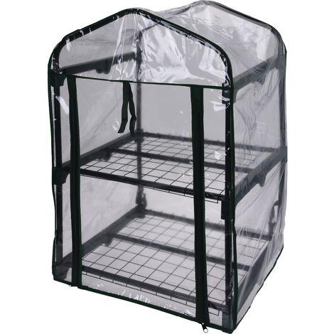 Invernadero de 2 niveles con marco metálico