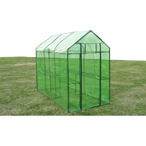 Invernadero de acero XL - Verde