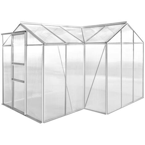 Invernadero de aluminio 1 sección con paneles cónvacos