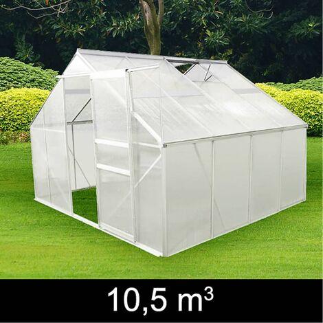 Invernadero De Aluminio 4 Secciones - Transparente