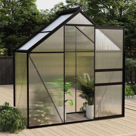 Invernadero de aluminio gris antracita 1,33 m2