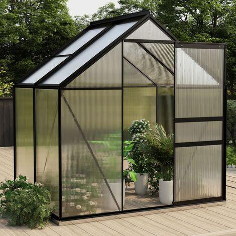 Invernadero de aluminio gris antracita 2,47 m² - Antracita