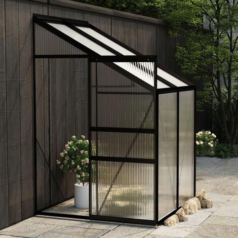 Invernadero de aluminio gris antracita 2,7 m3